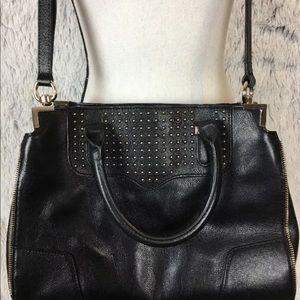 Rebecca Minkoff Satchel Cross Body Black Leather